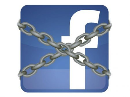 Facebook logo in Chains