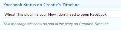 Publish to Creotix Timeline