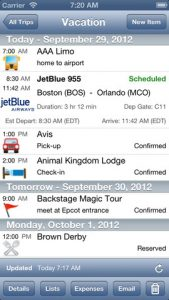 traveltracker pro for iphone ipad
