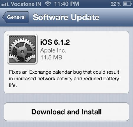 iOS 6.1.2 Still Buggy