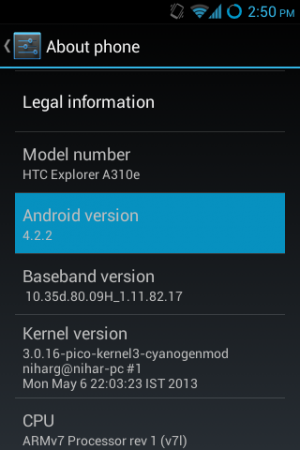 android v4.2.2 jelly bean on htc explorer