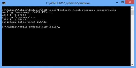 fastboot flash recovery command