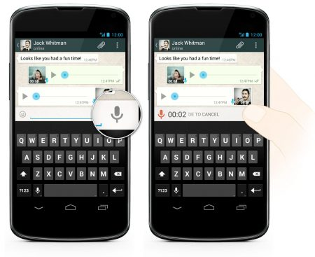 WhatsSpp Voice Messages on Android