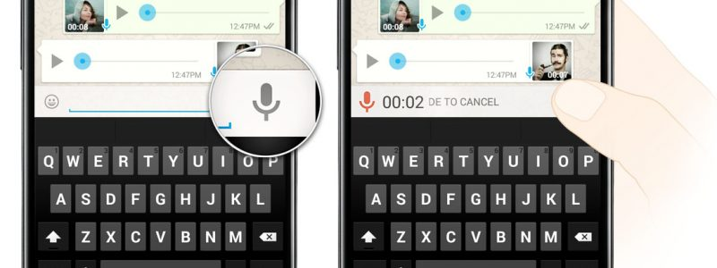 Whatsapp voice message on Android