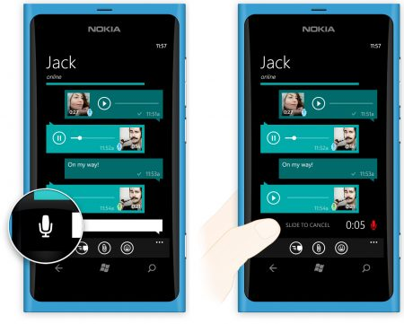 WhatsApp Voice Messages on Windows Phone