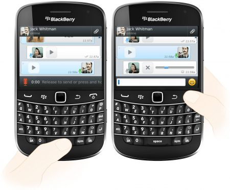 WhatsApp Voice Messages on Blackberry