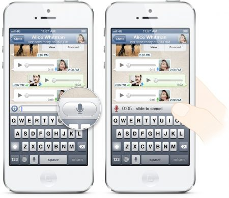 WhatsApp Voice Messages on iPhone