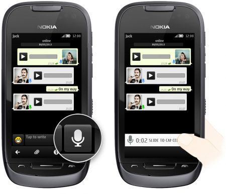 WhatsApp Voice Messages on Nokia S40/S60